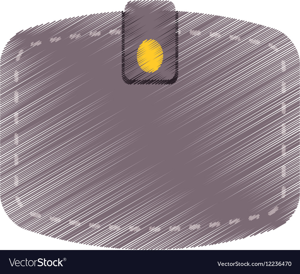 Hand draw wallet save money color vector image