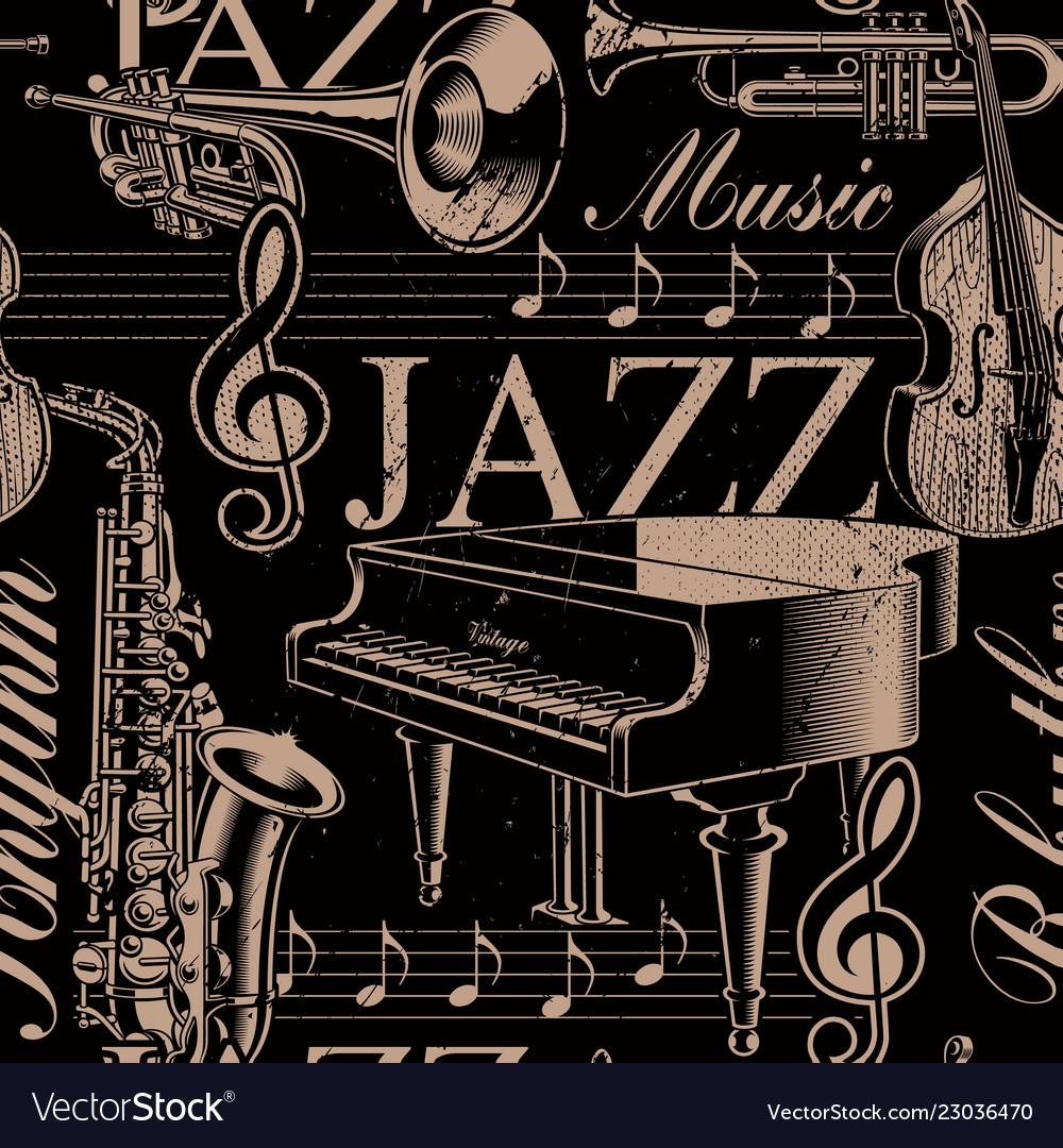 Musical seamless background of jazz theme