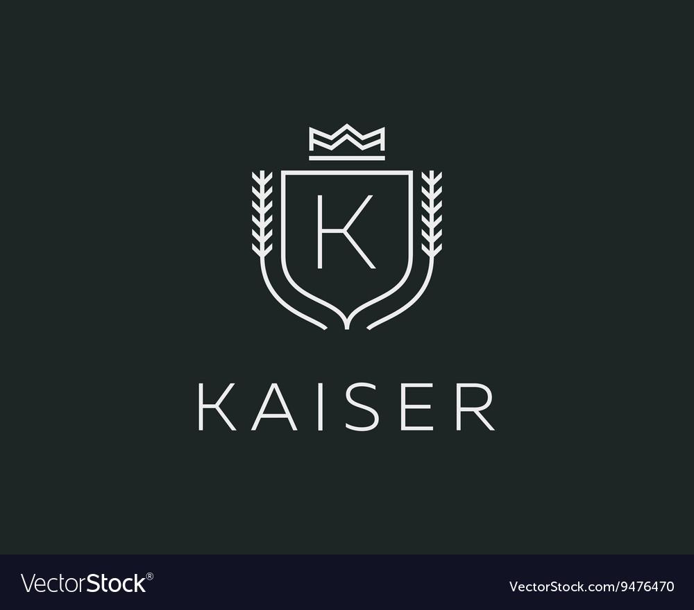 Premium monogram letter K initials ornate