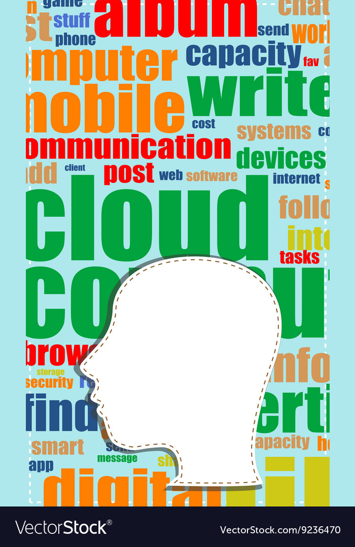 Word cloud tag cloud text business concept