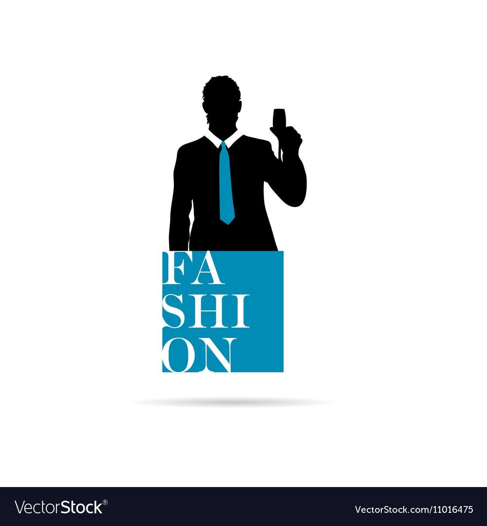 5dfaff765b8 Banner fashion with man silhouette royalty free vector image jpg 1000x1080 Man  silhouette fashion