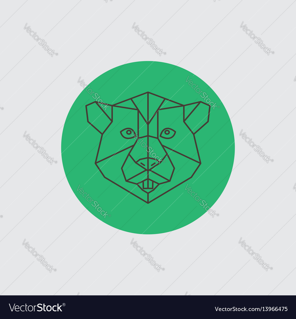 Beaver abstract geometric portrait