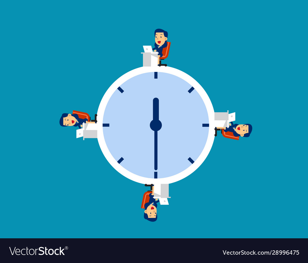 Business team working at time concept business