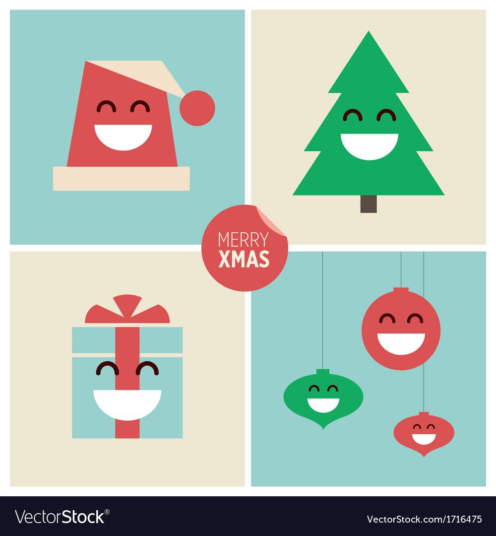 Christmas cartoon design elements