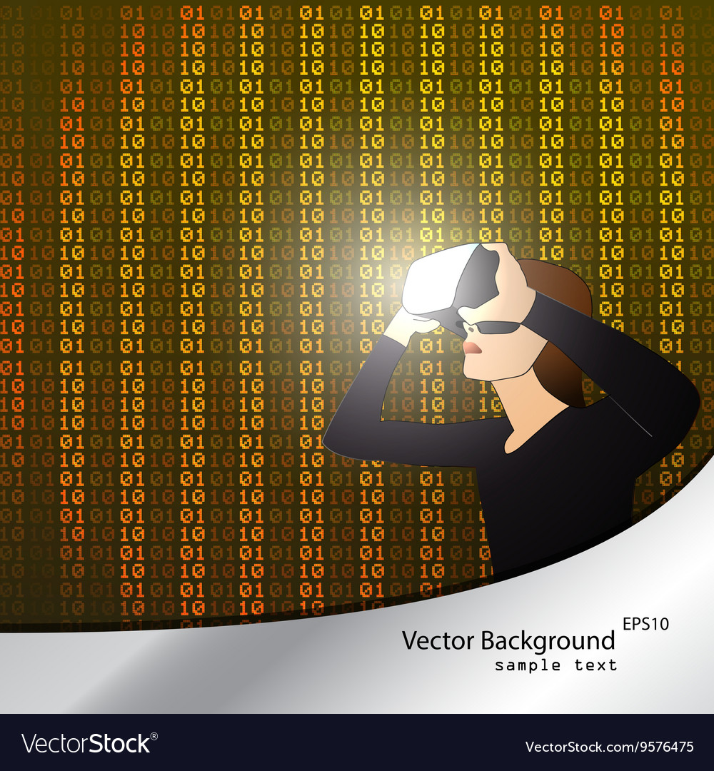 Glasses with the virtual reality