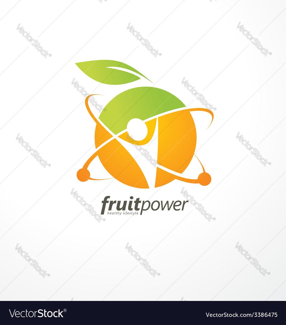 Healthy life style logo design vector image