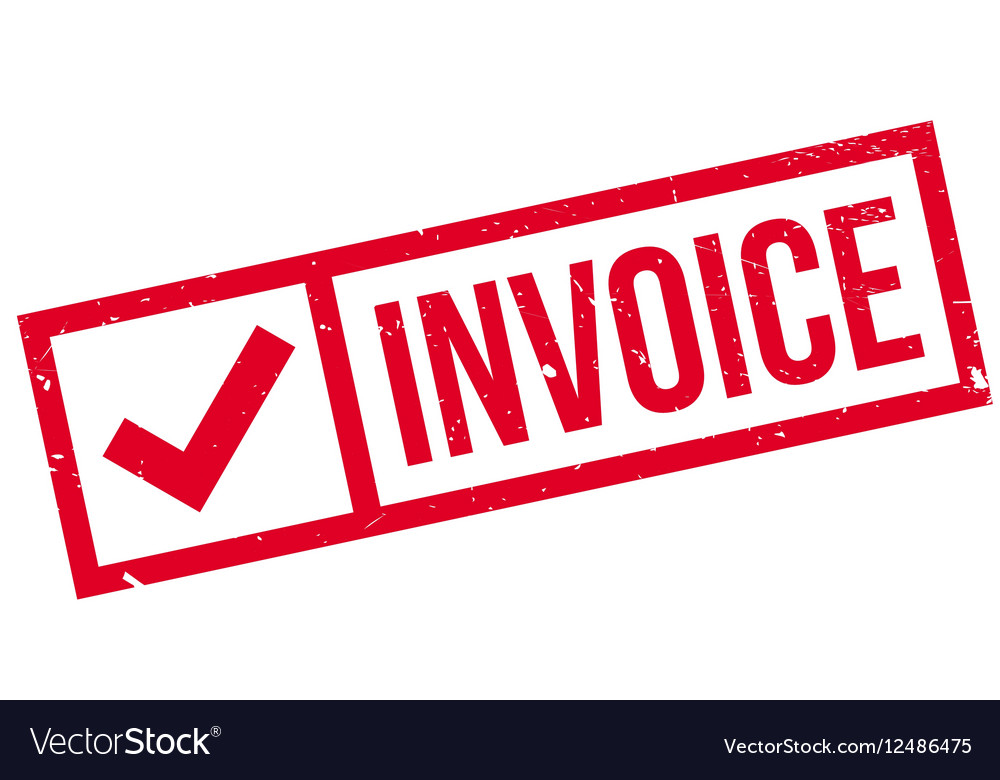 Invoice Rubber Stamp Royalty Free Vector Image - Invoice stamp