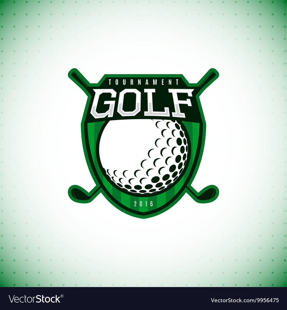 Logo of golf championship vector image