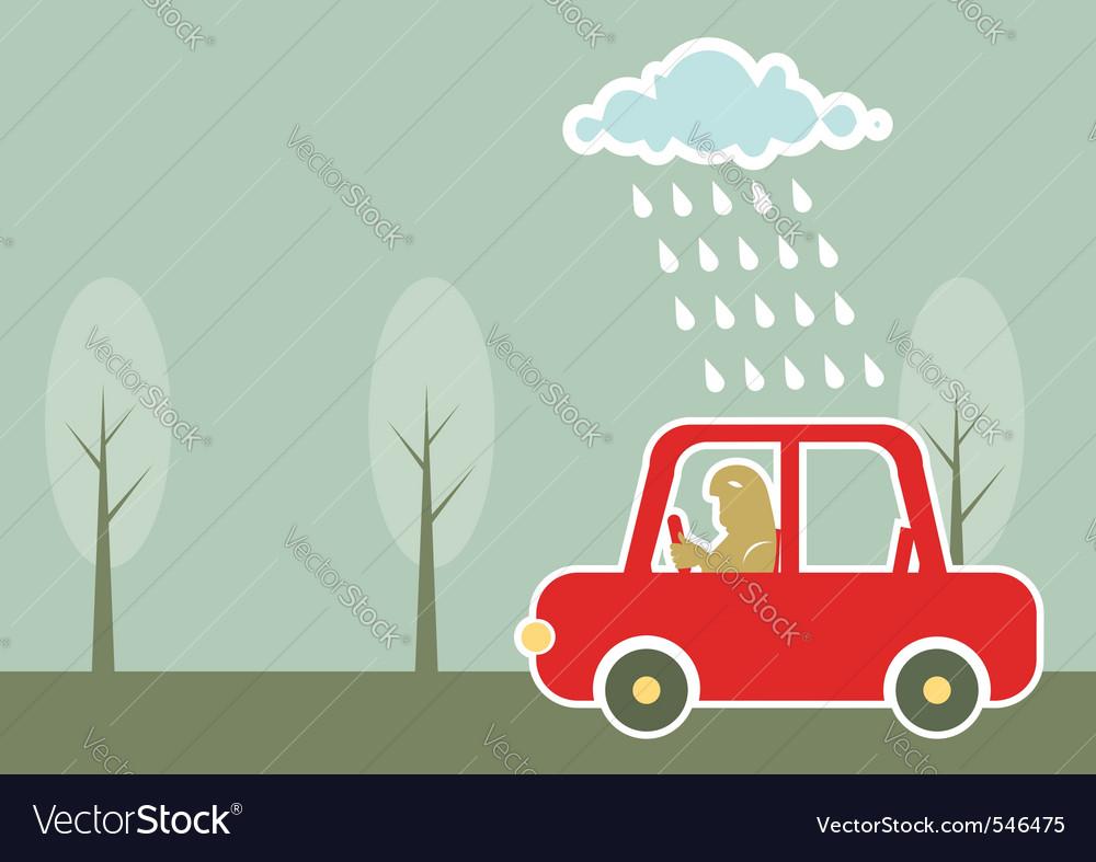 Man driving vector image