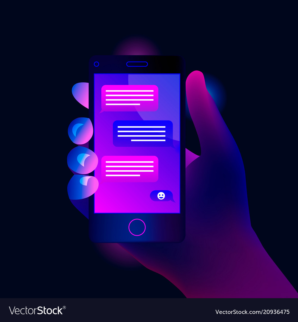 Mobile phone chat message notifications