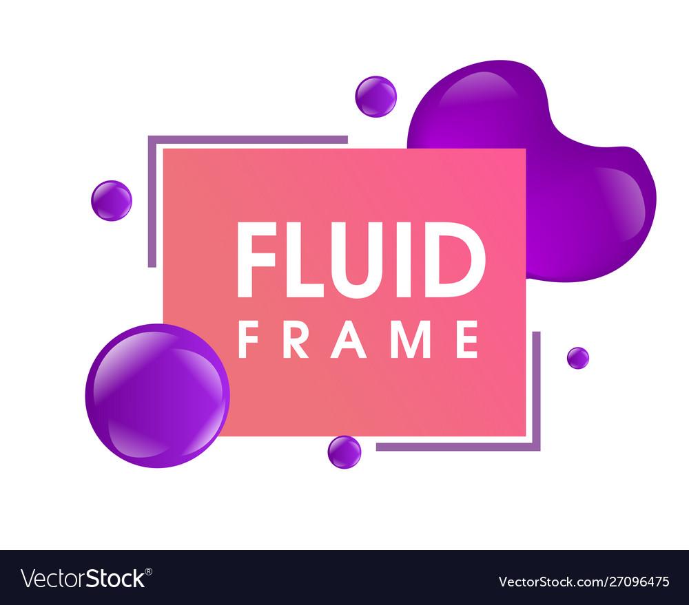 Modern colorful fluid frame design