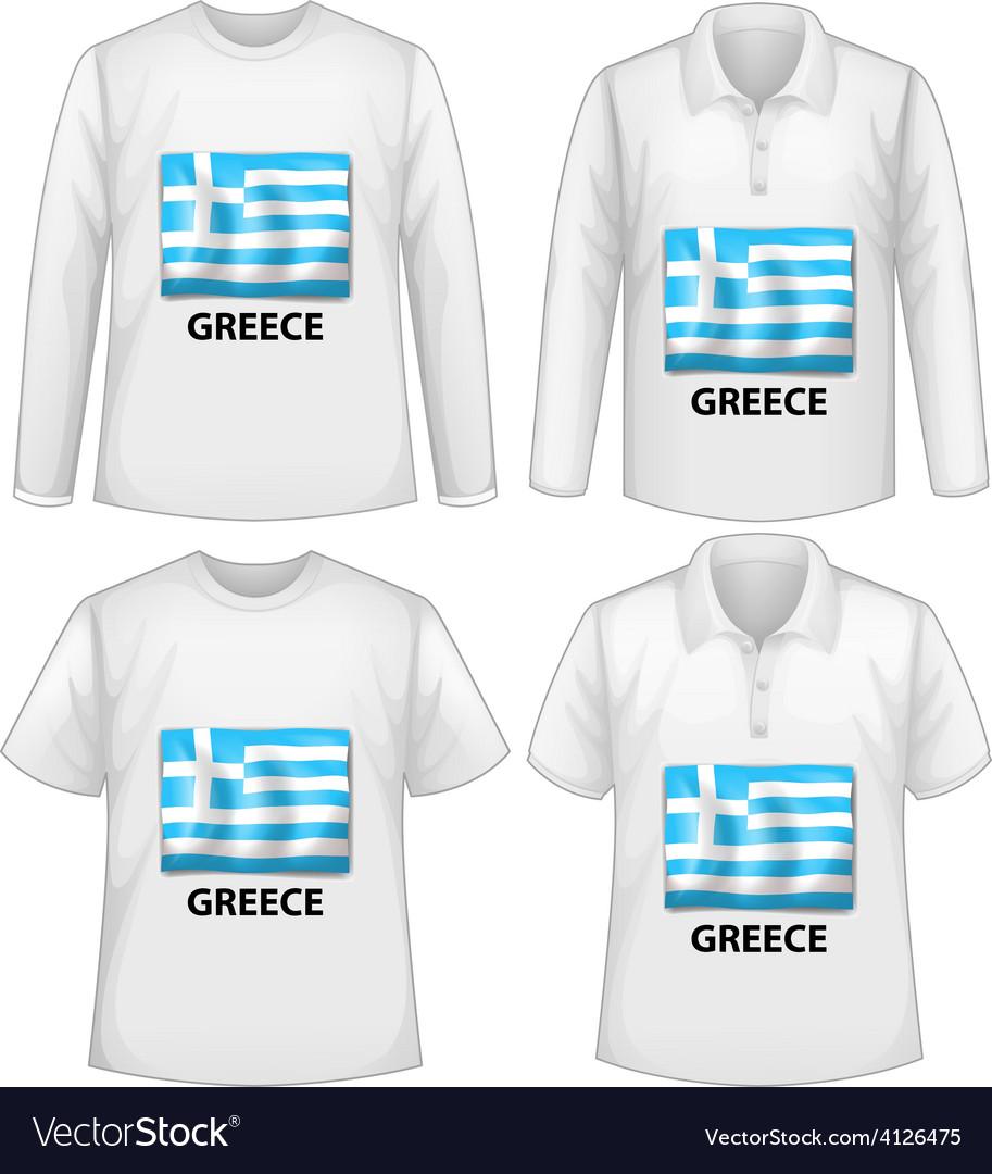 White shirts vector image