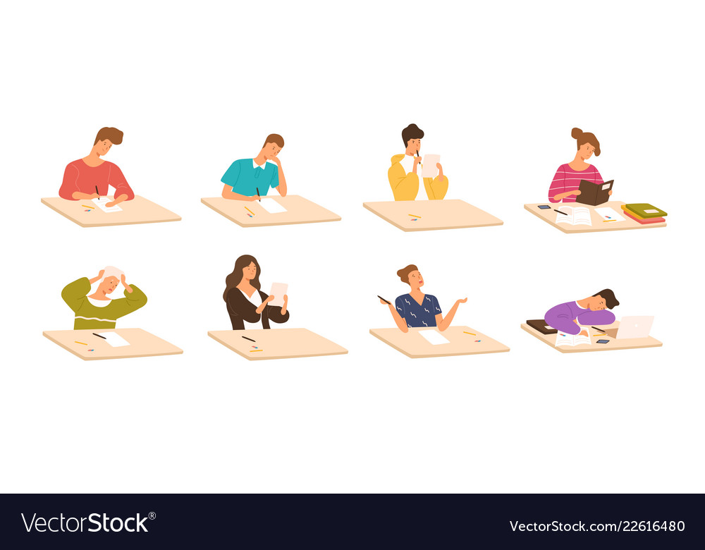 Collection of young boys and girls sitting at
