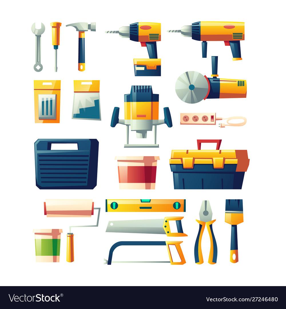 Construction electric hand tools flat set