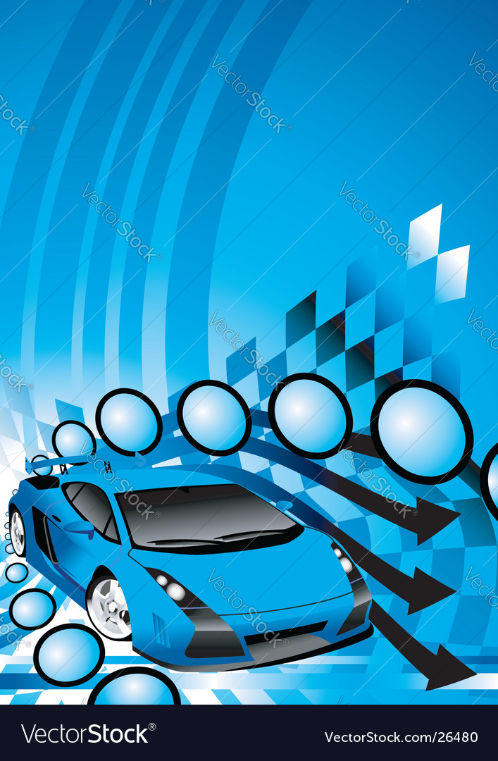 Fantastic car vector image