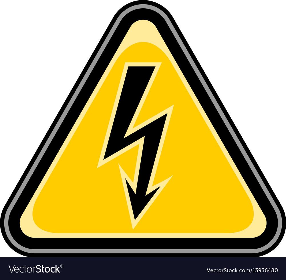 High voltage sign triangular sticker