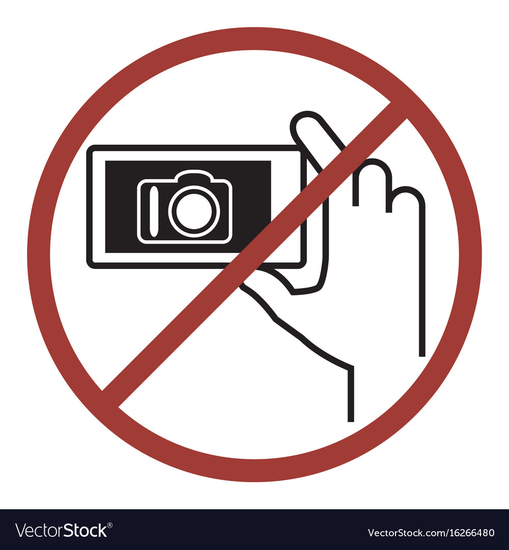 Sign of do not photography