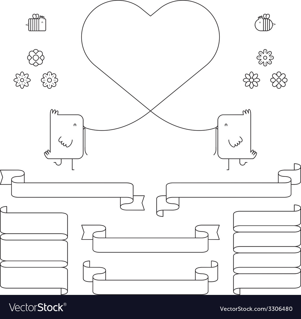 The Birds And Bees Design Elements Royalty Free Vector Bird Heart Diagram Image