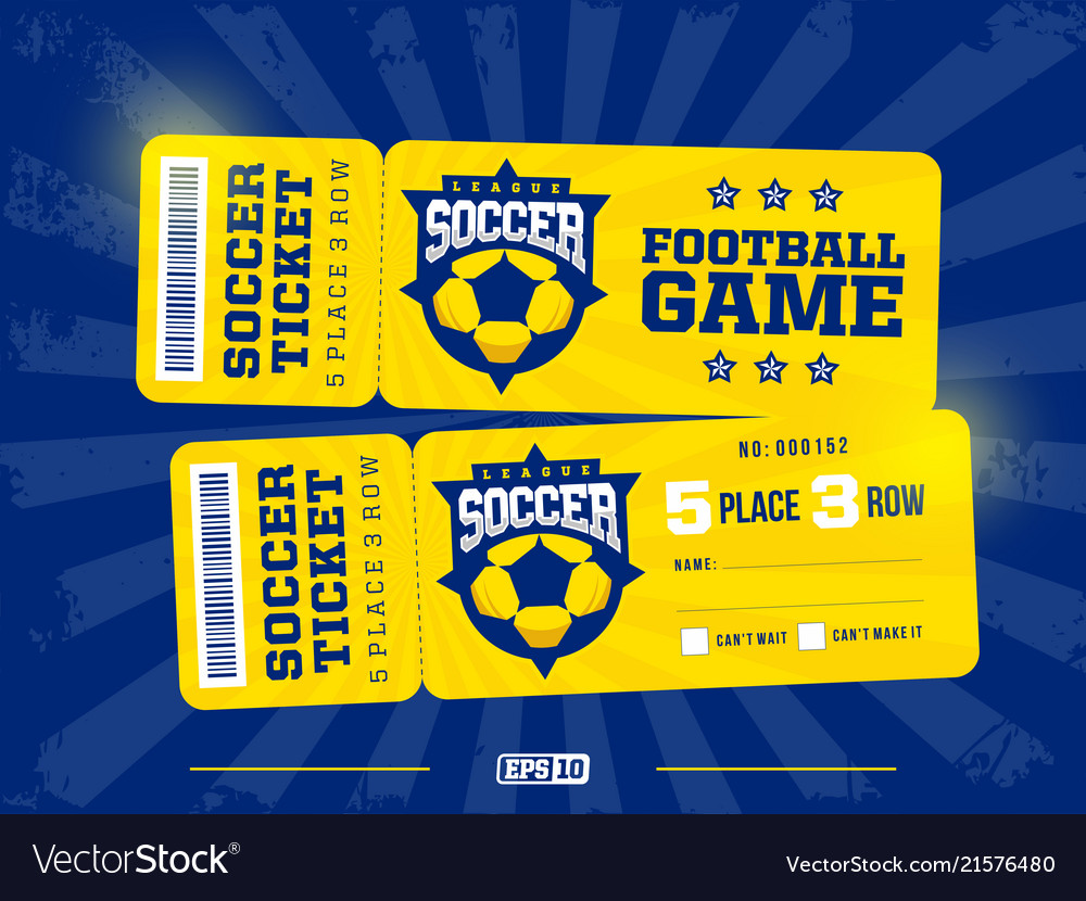 Two modern professional design of football tickets