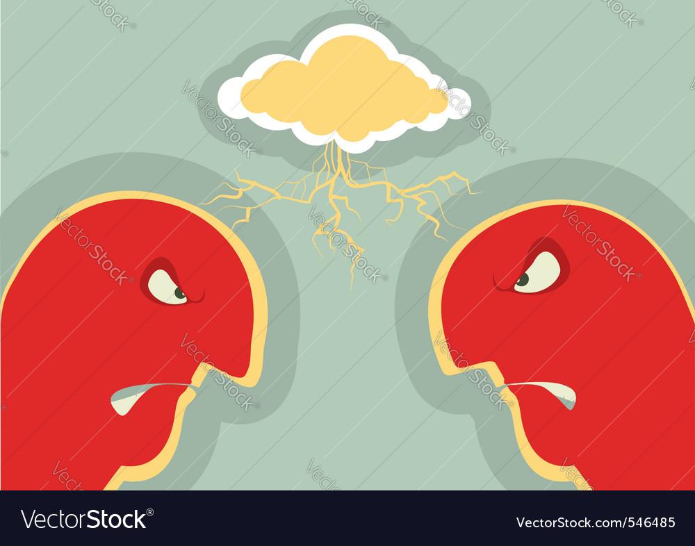 Angry couple vector image