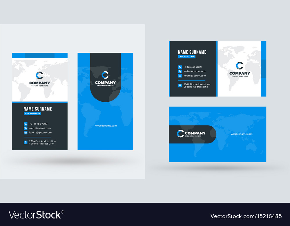 Double-sided creative business card template