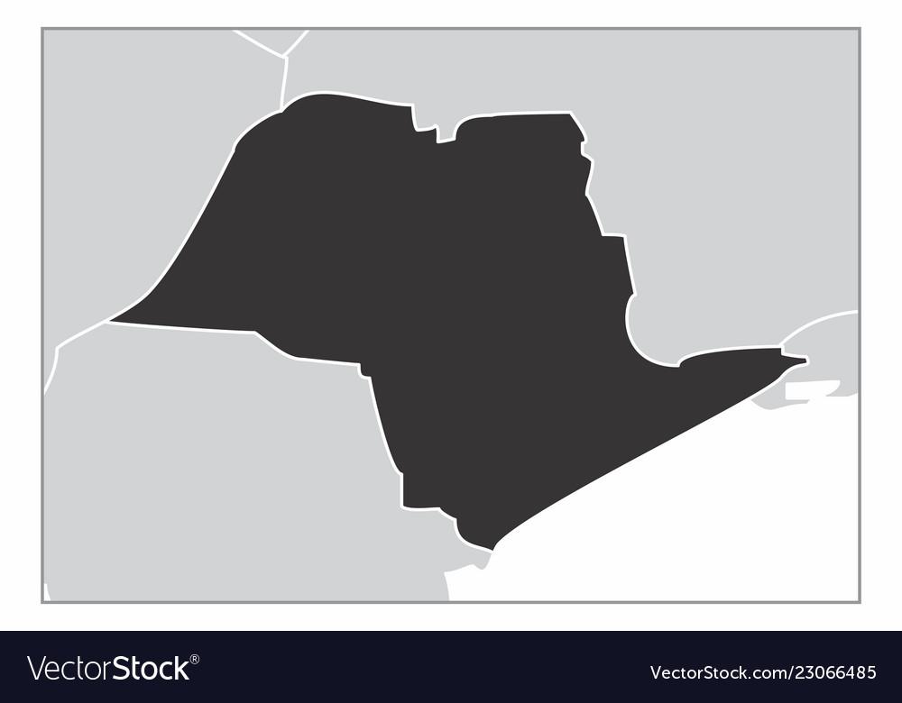 Sao Paulo State Map.Sao Paulo State Map Royalty Free Vector Image Vectorstock