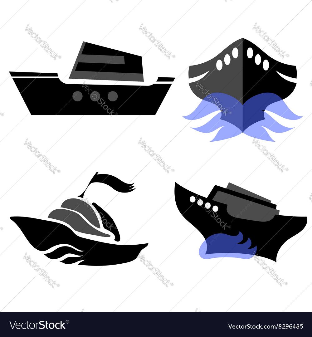 Set of Boat Icons vector image