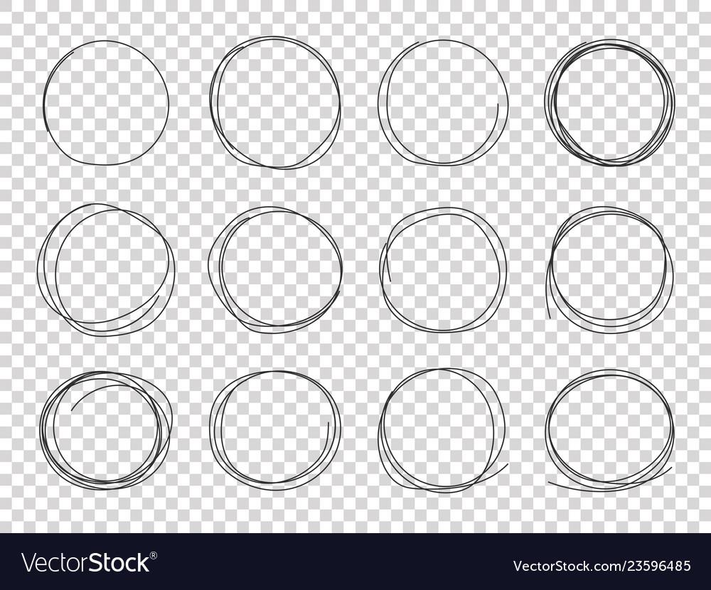 Sketch circles hand drawn circled frames