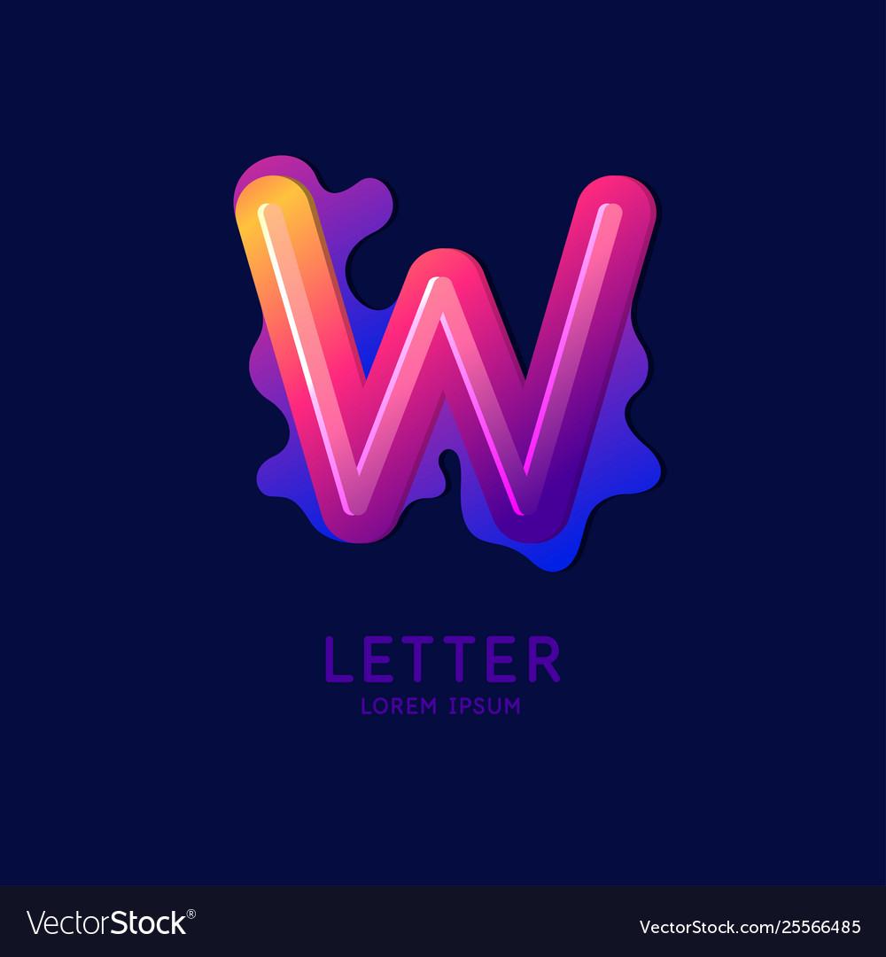 The letter w latin alphabet display