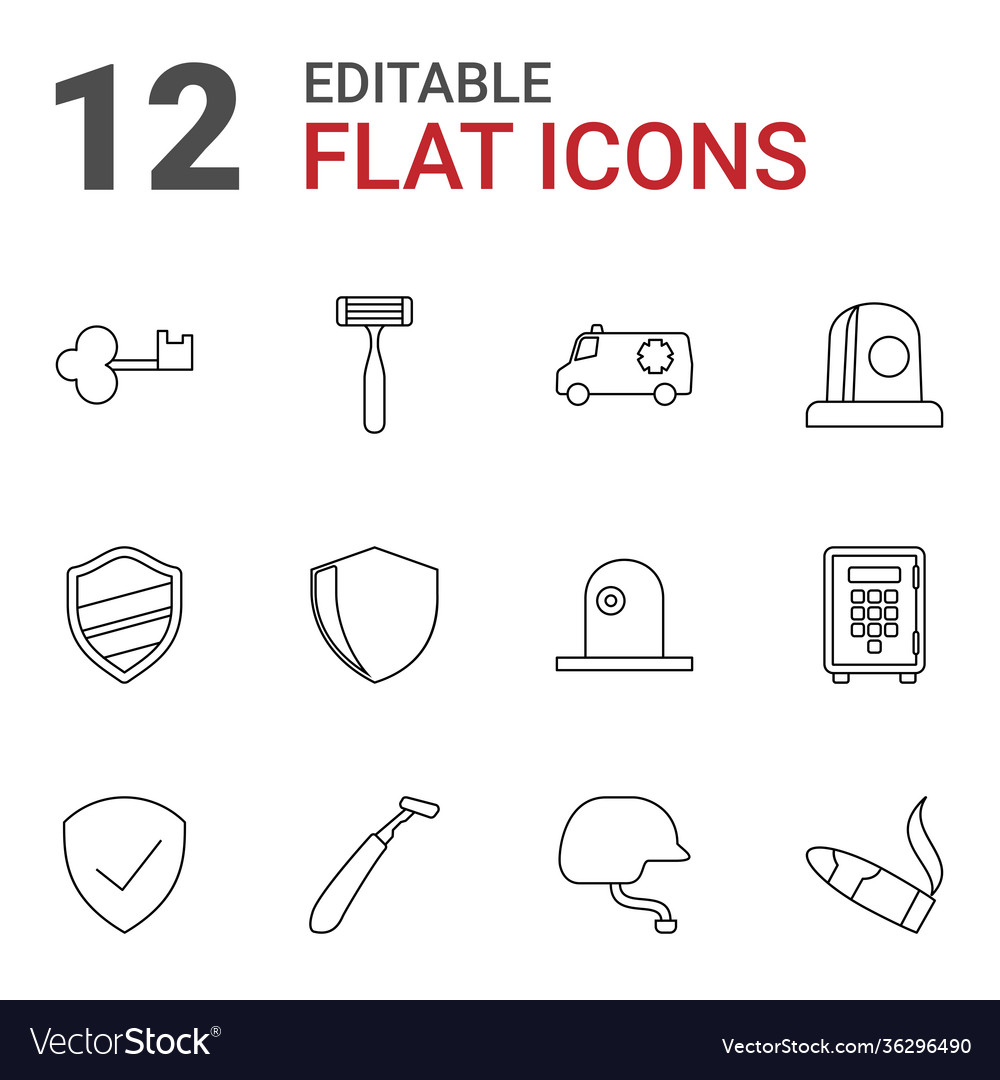 12 safety icons