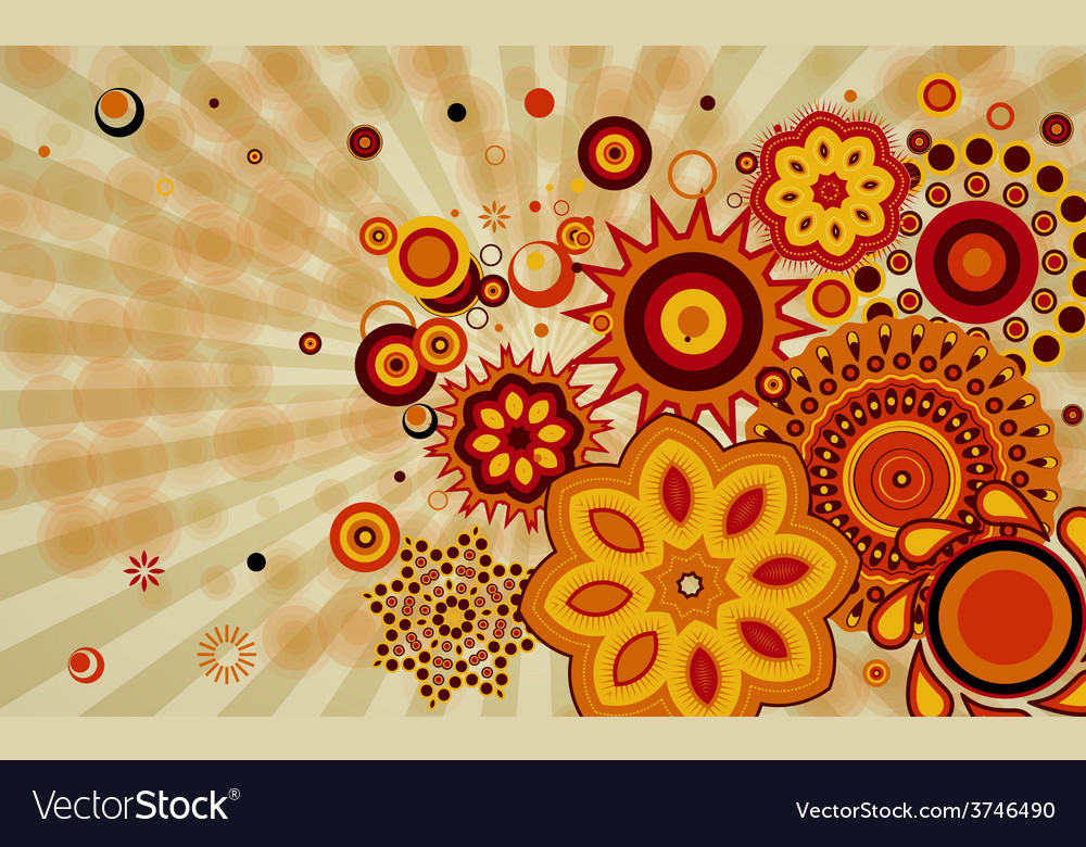 Abstract background with different design shapes