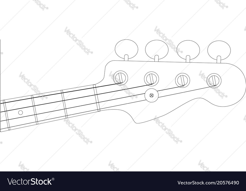 25 images of fender jazz bass headstock template printable.
