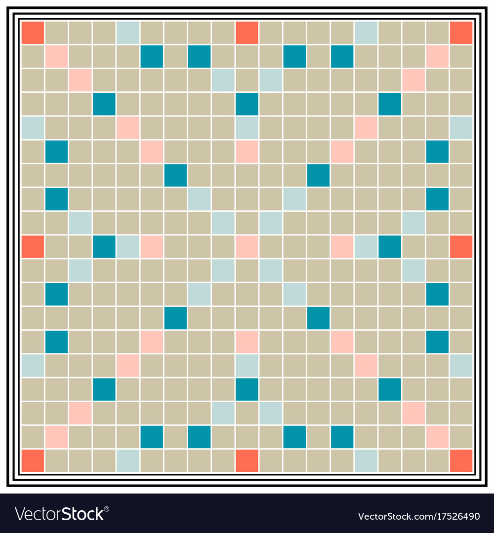 Board game erudition board biggest scrabble vector image for Scrabble template printable
