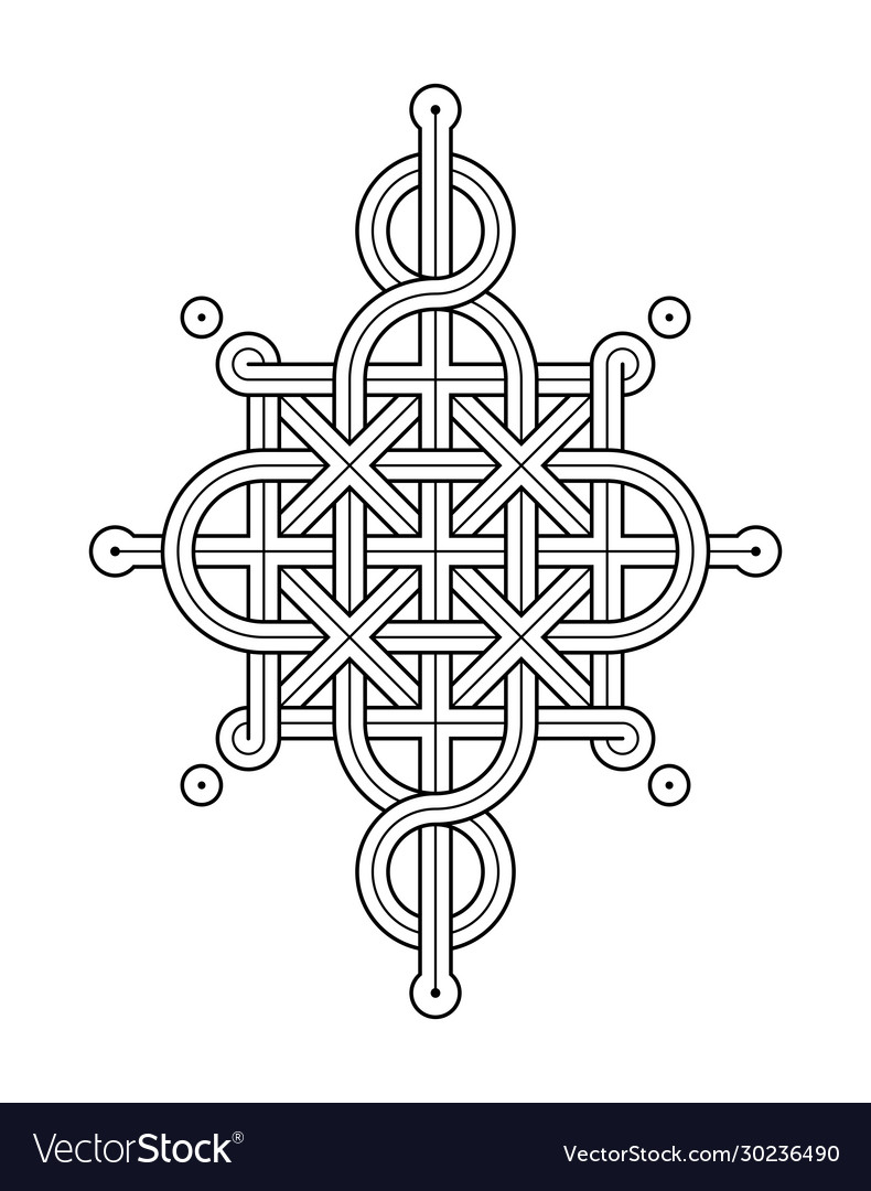 Celtic knot - single chain - wand top rod sides