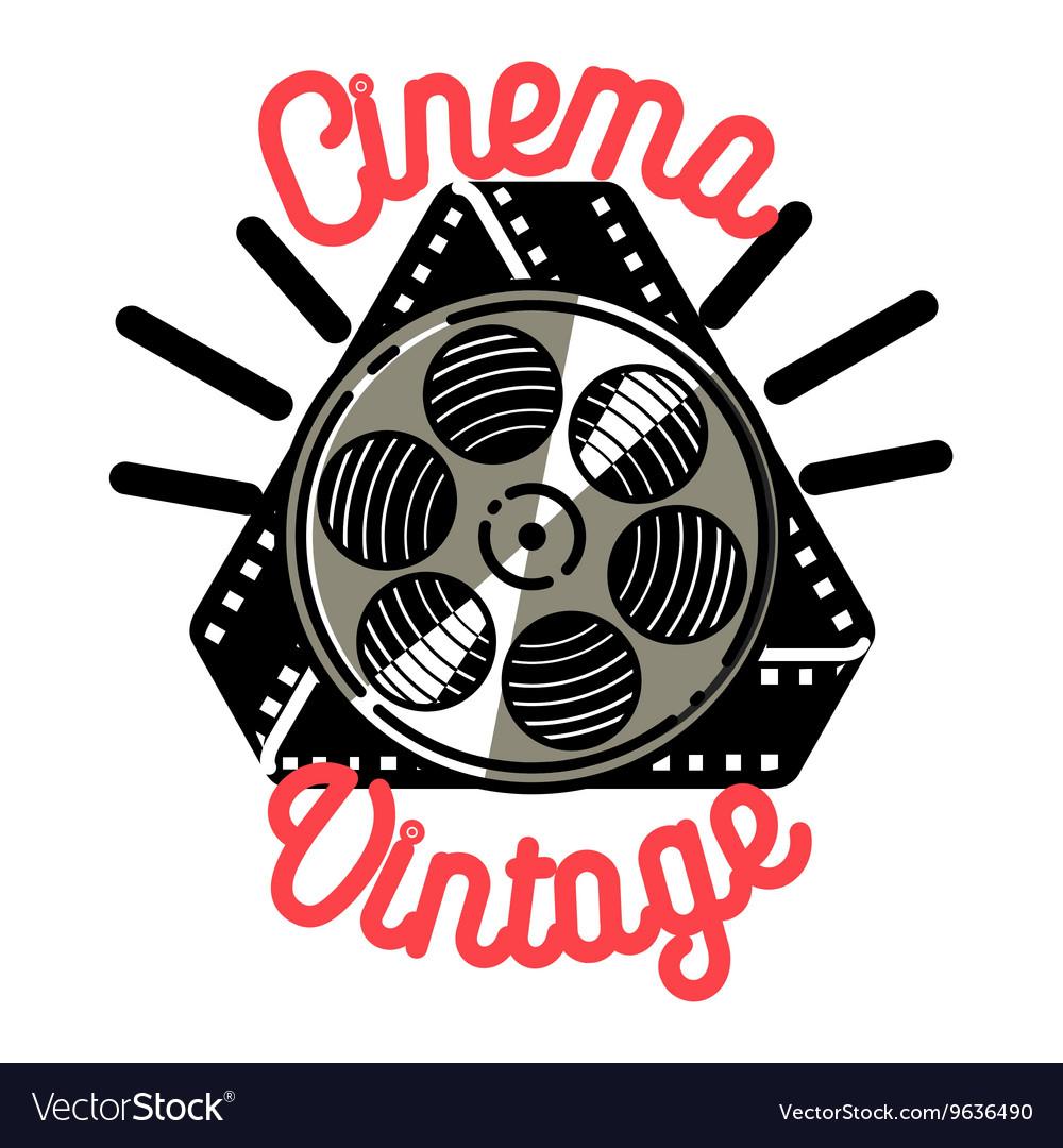 Color vintage cinema emblem