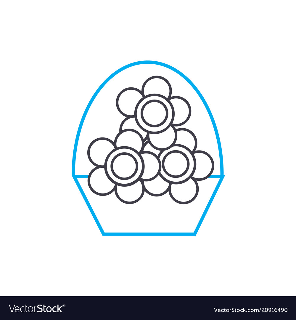 Flower business linear icon concept flower