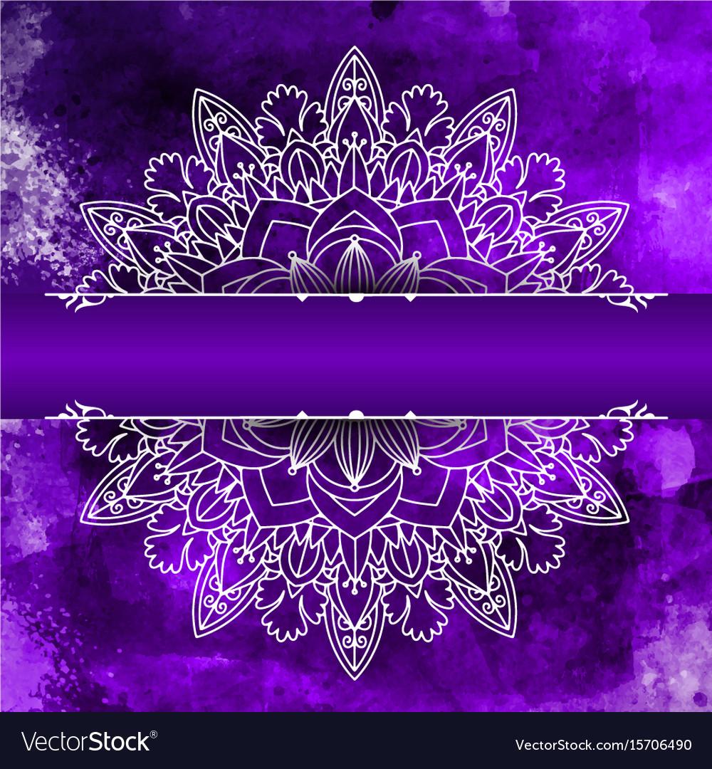 Mandala design on a watercolour background
