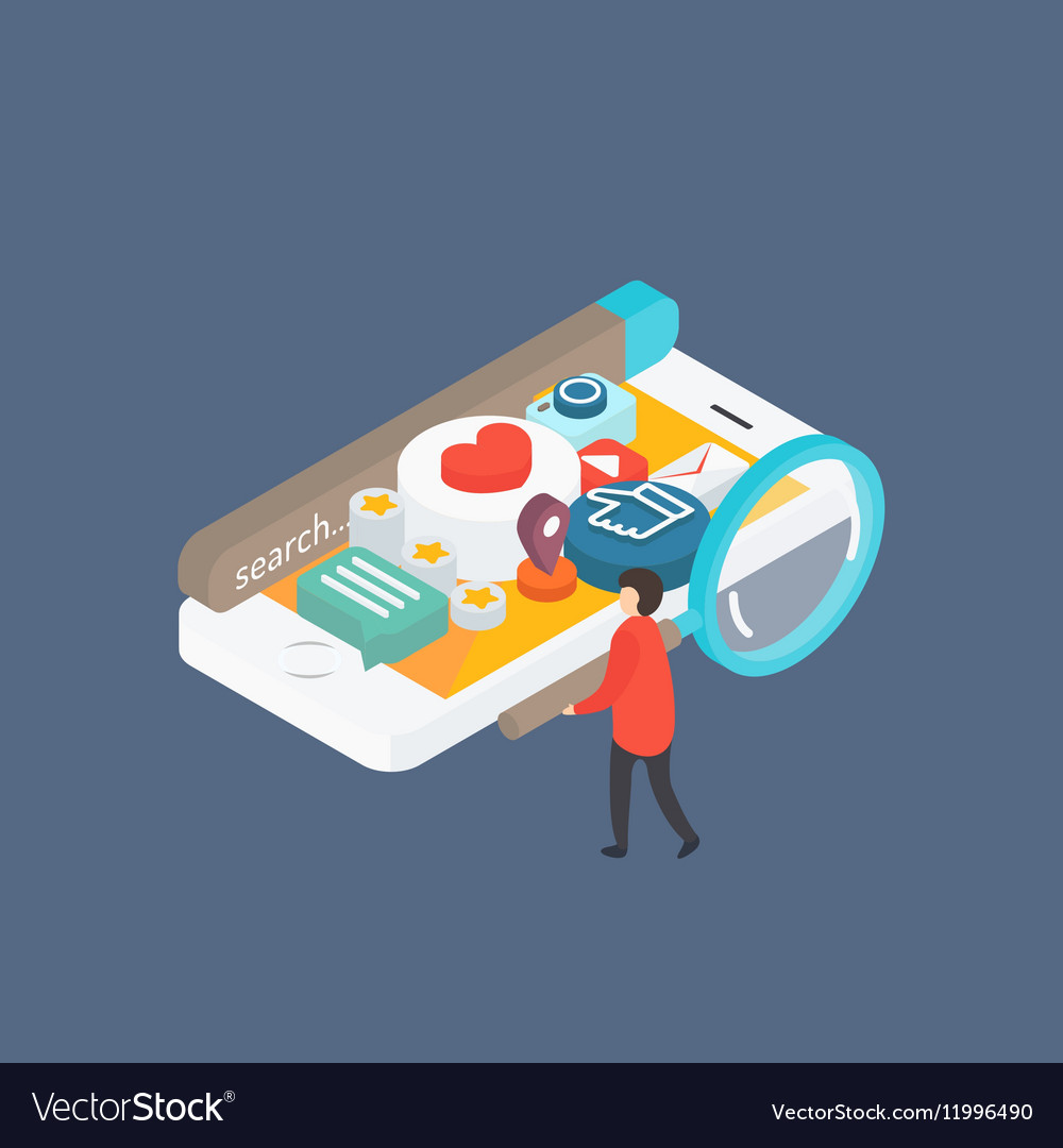 Modern concept Social media on smartphone