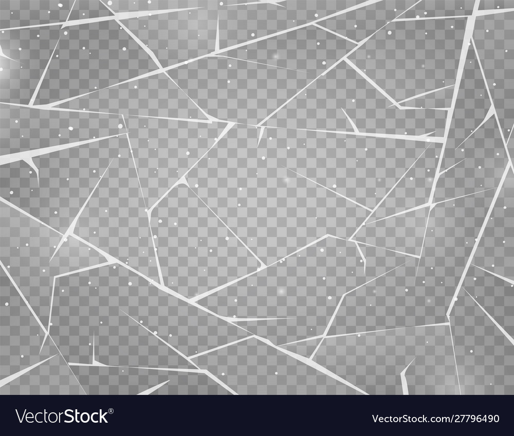 Realistic cracked ice surface frozen glass
