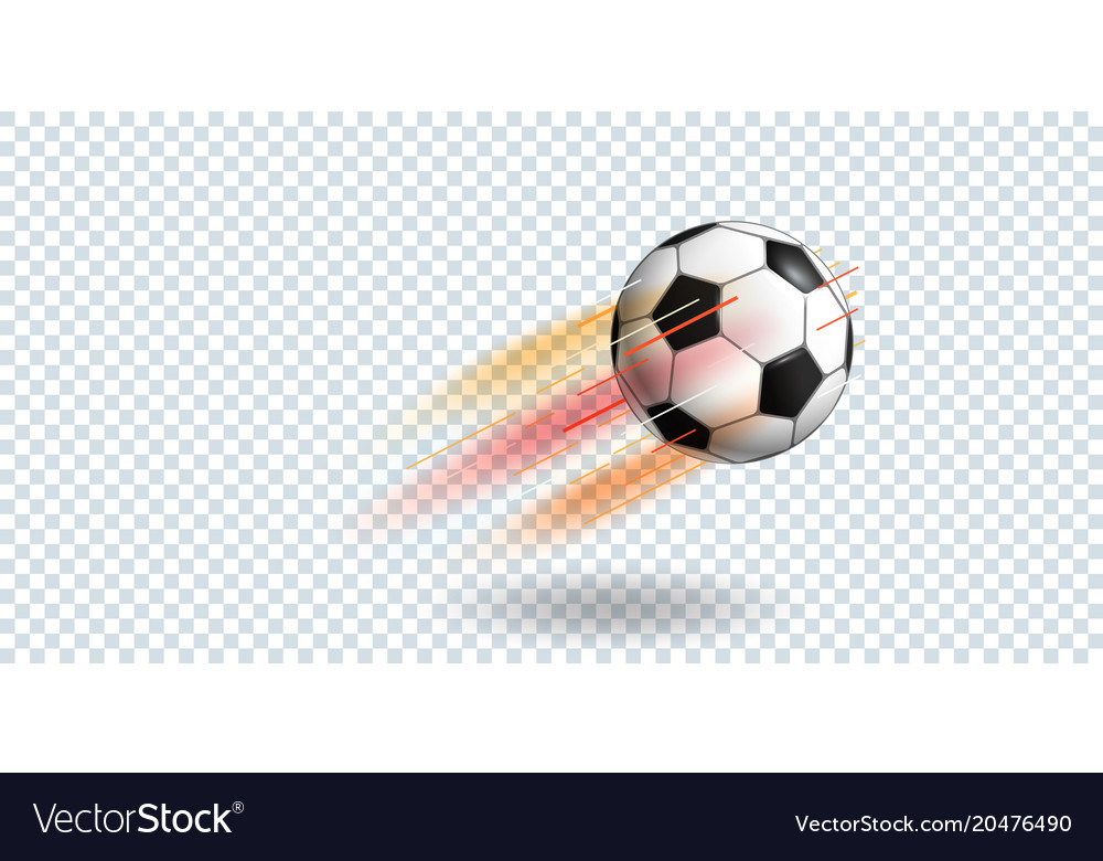 Soccer Ball On Transparent Background Royalty Free Vector