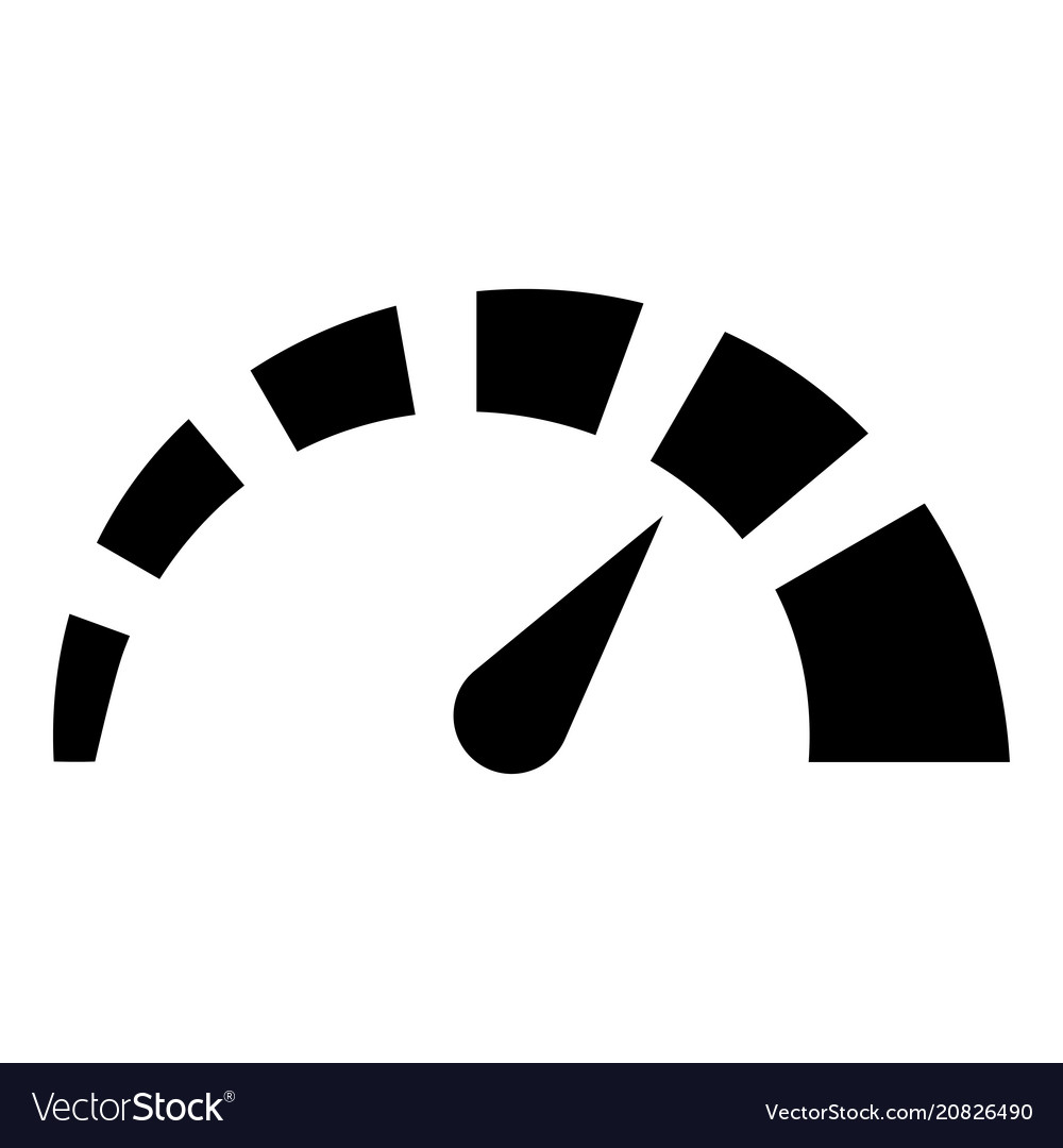 Speedometer icon black color flat style simple Vector Image