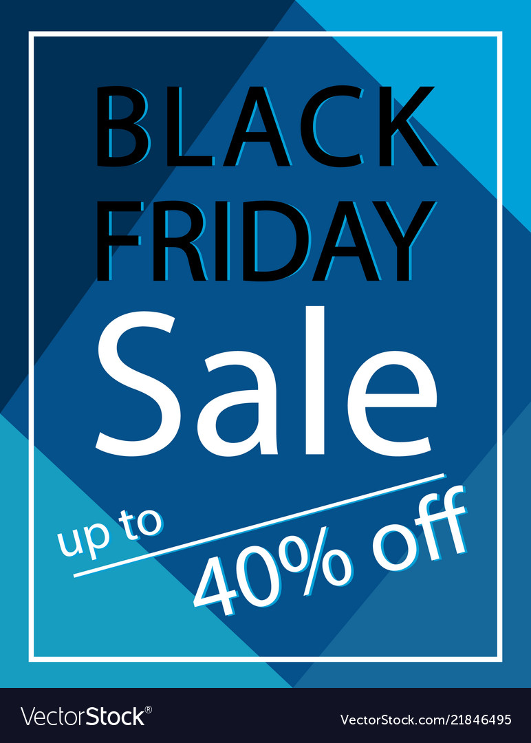 40 percent off black friday sale poster