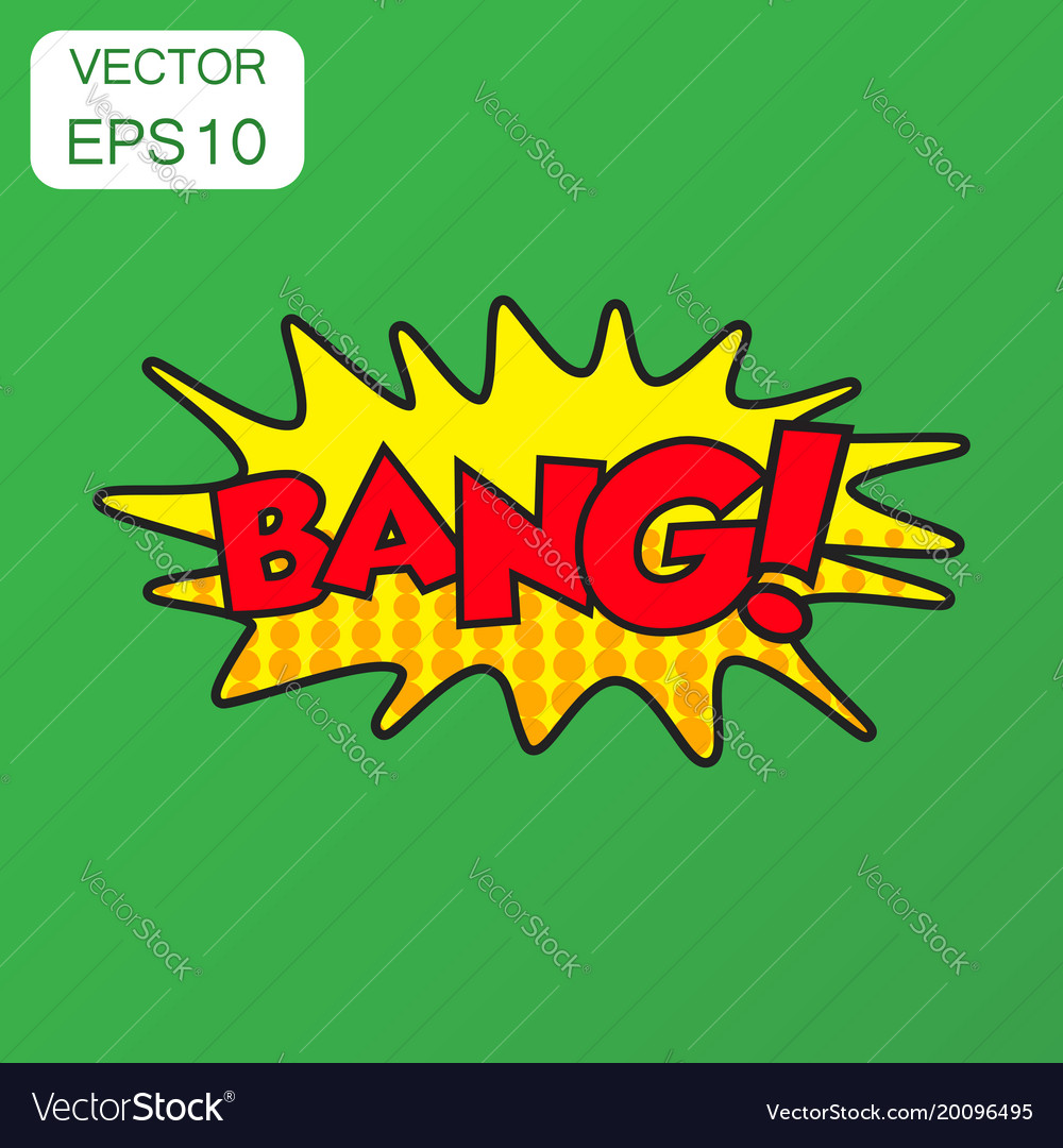 Bang comic sound effects icon business concept