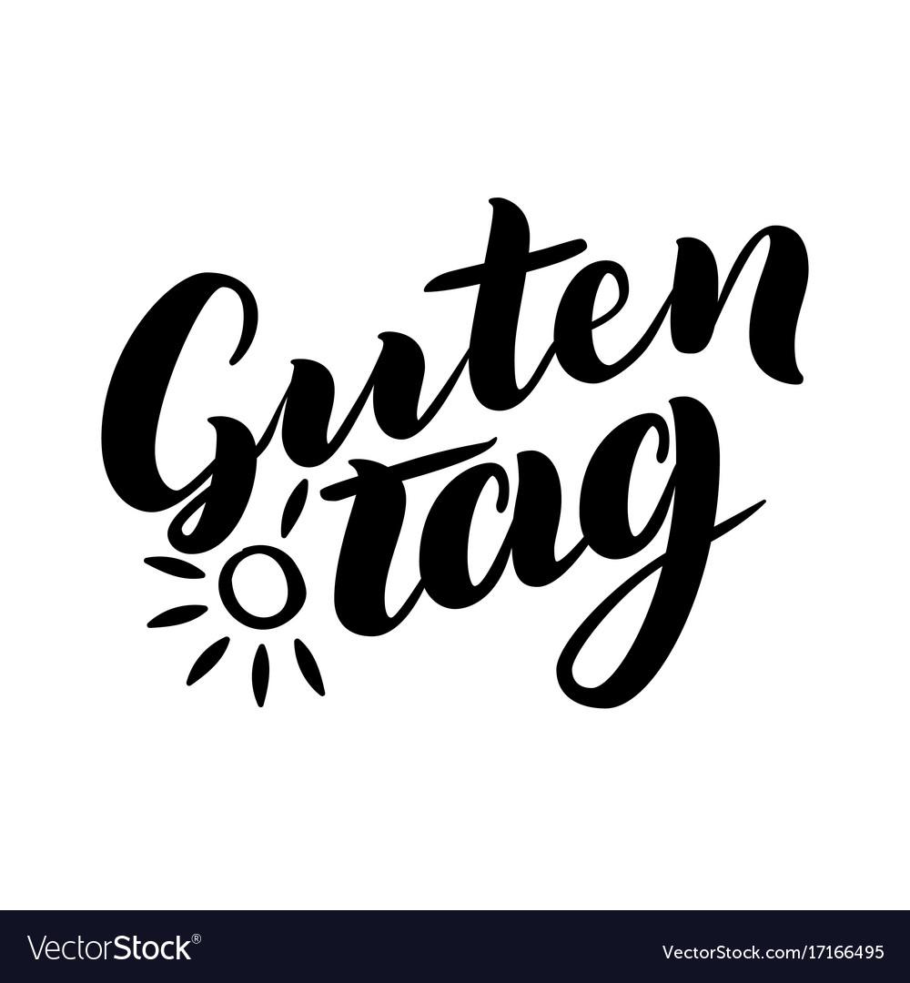 Guten Tag Word Hello Good Day In German
