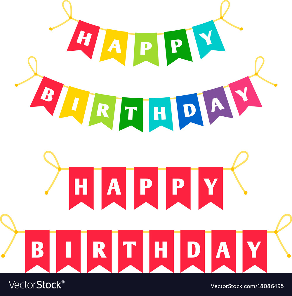 happy birthday letters images happy birthday letters bounting flags royalty free vector 17589 | happy birthday letters bounting flags vector 18086495