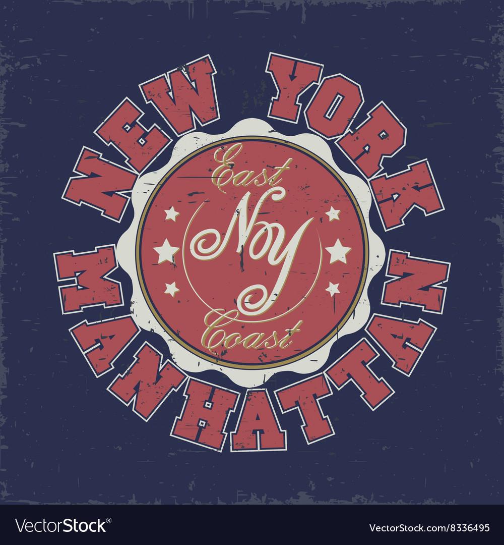 Manhattan t-shirt graphics vector image