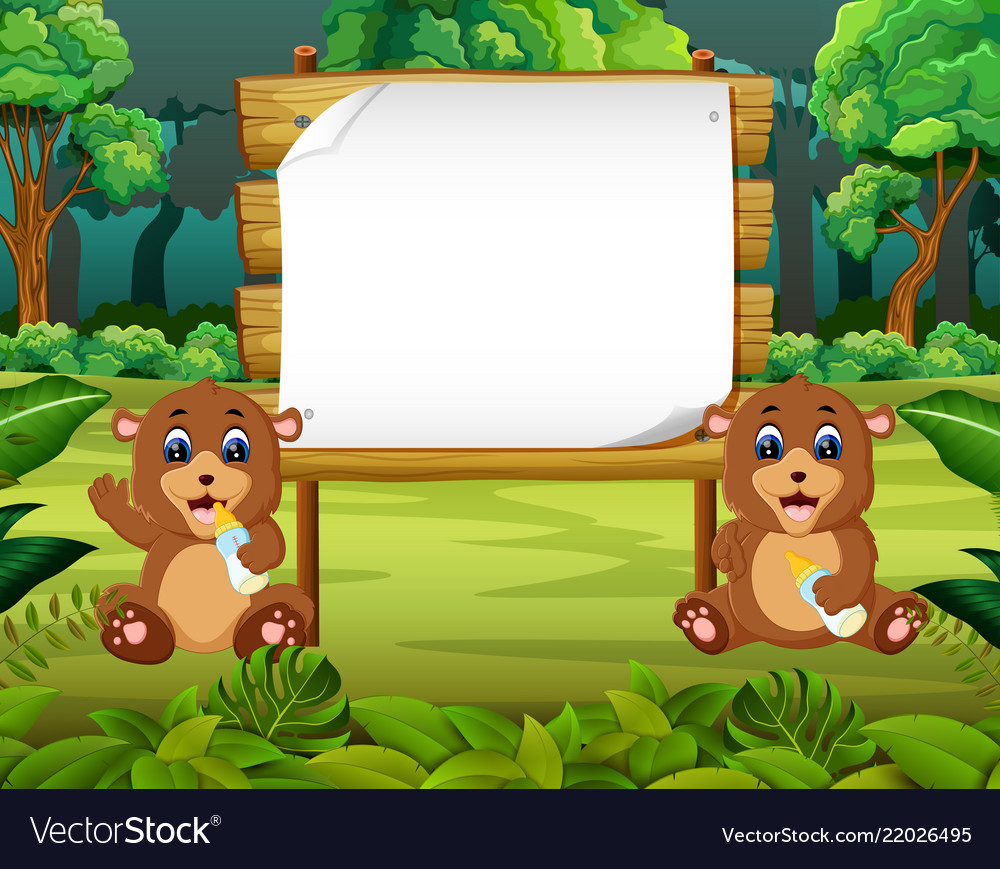 Nature view with the wooden board blank space