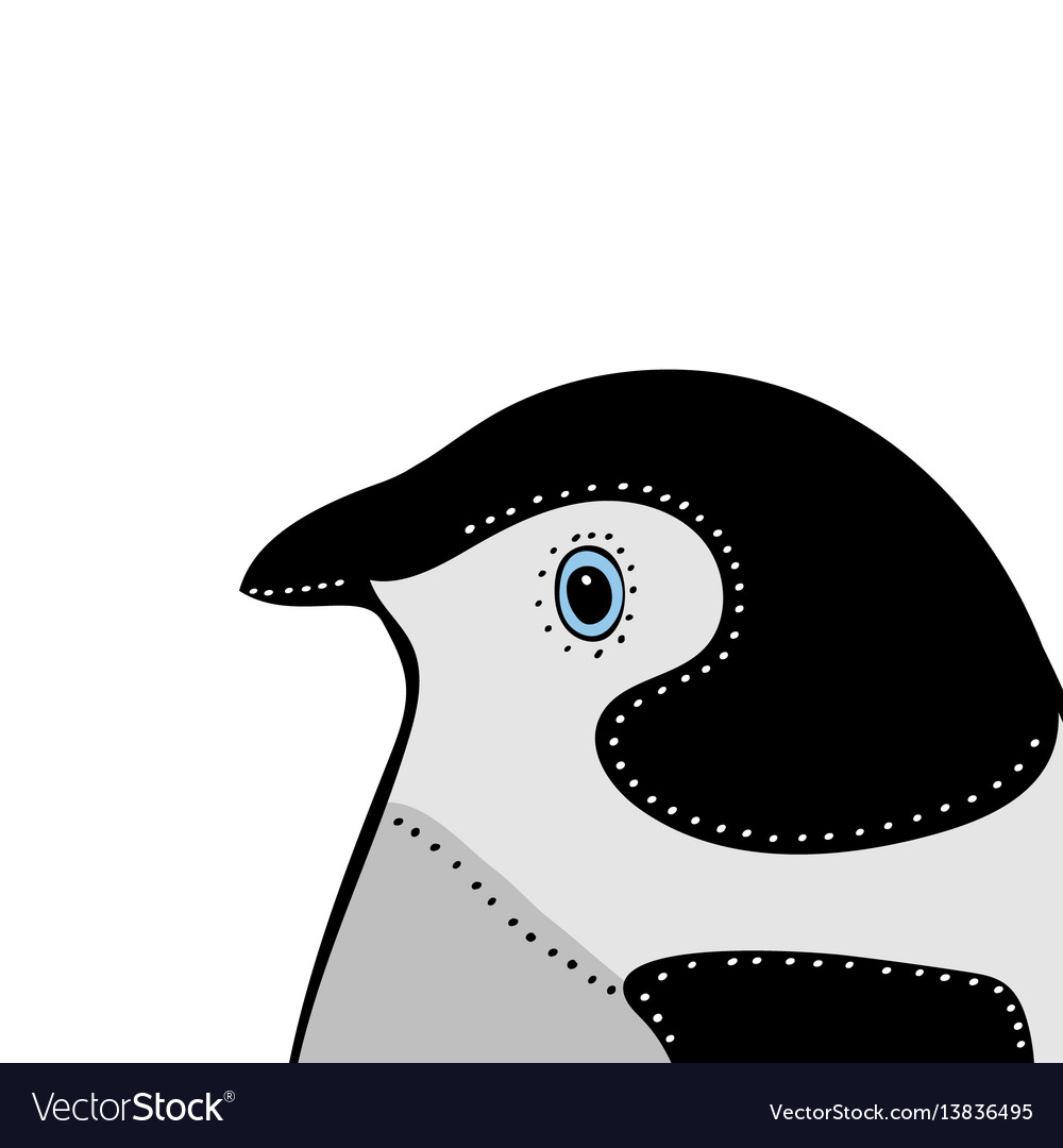 Penguin cute animal head funny cartoo