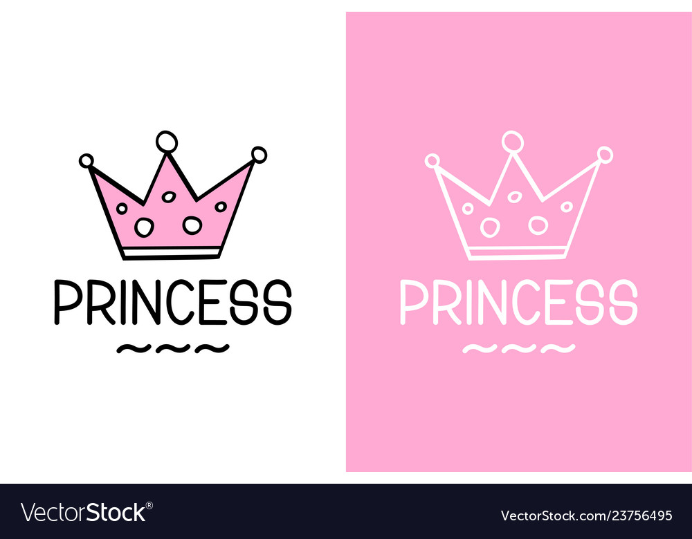 Princess and crown inspirational quote - design
