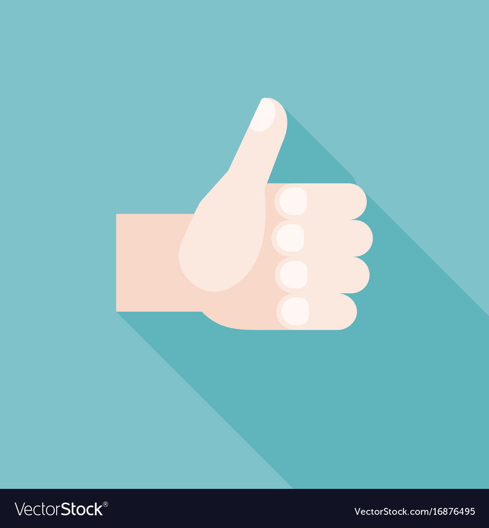 Thumbs up hand for like or guarantee icon sign